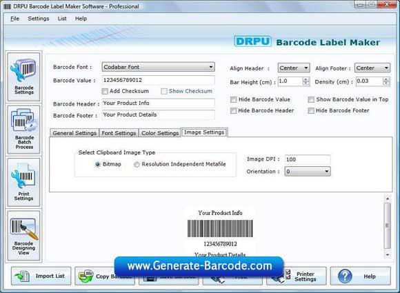 Software desain gambar barcode indah dan standar dalam format 2D