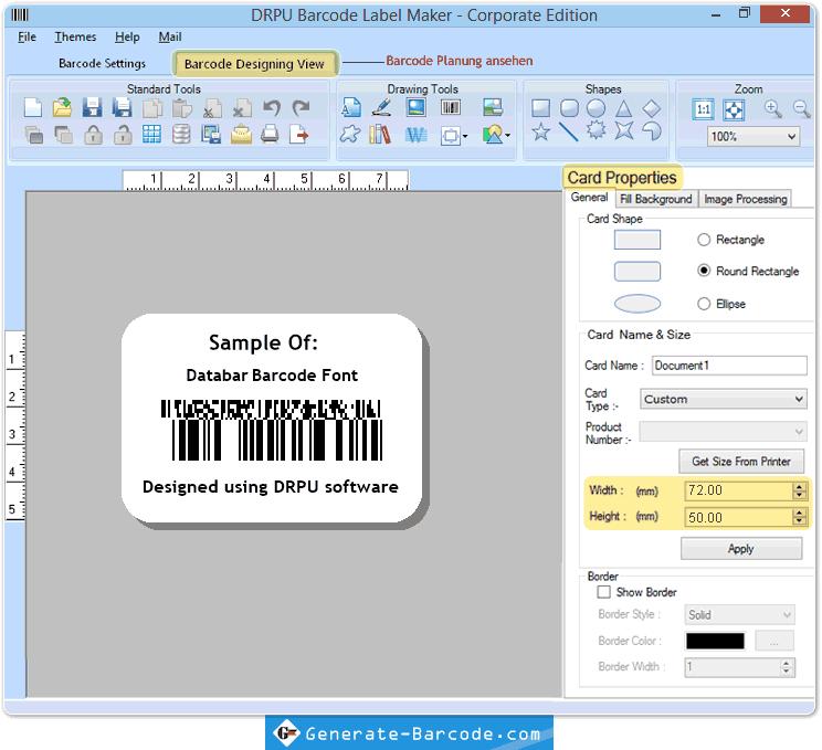Gestalten Sie Barcode-Etiketten und speichern Design log - Generate ...