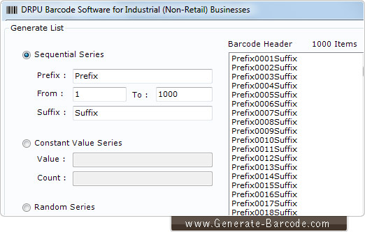 Industrial Manufacturing Barcode