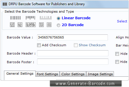 Publisher Barcode Software