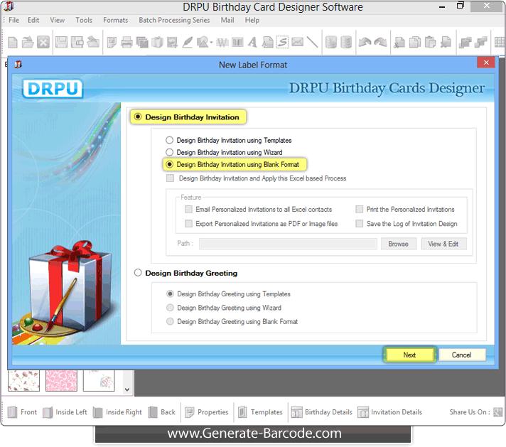 Birthday cards design software screenshots generate barcode birthday cards maker software filmwisefo