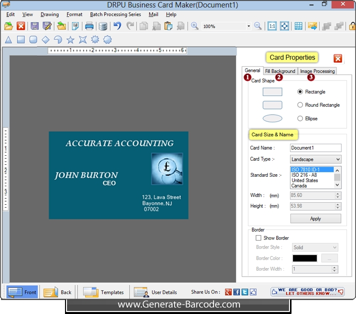 Business card maker software creates professional cards generate business card maker software reheart Choice Image