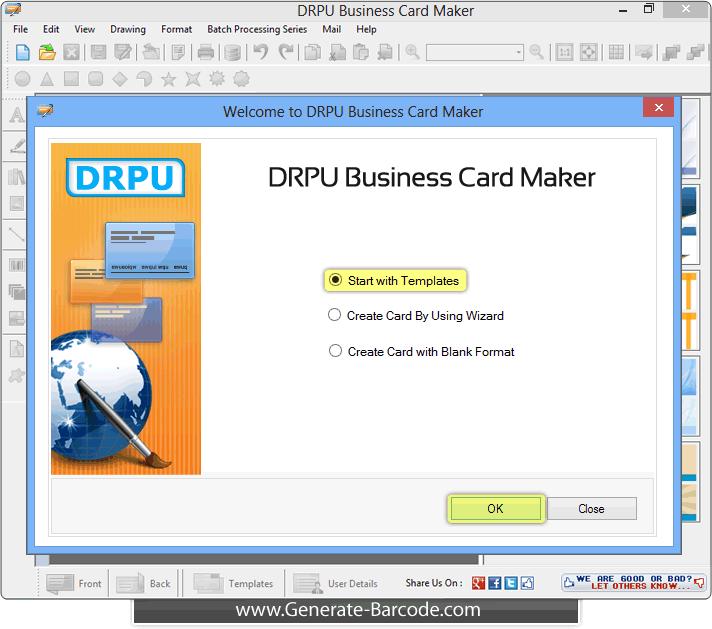 Business card maker software design visiting card generate barcode drpu business card designing software colourmoves