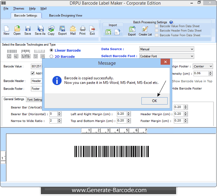 Copy and Paste Barcode with Barcode Software – Generate-Barcode com