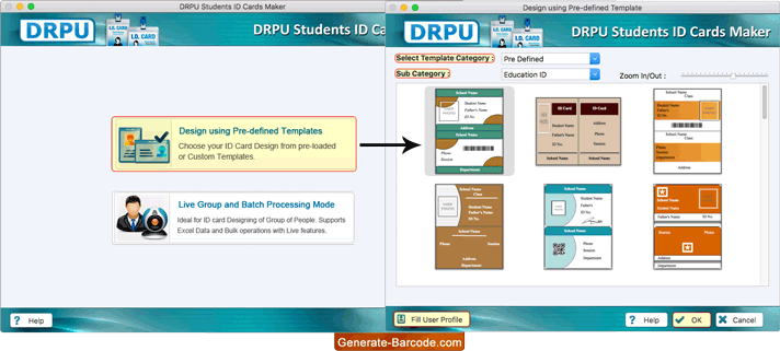 Software Id Cards Screenshots Student com - Maker Mac Generate-barcode