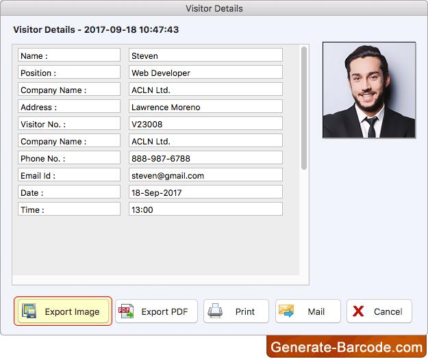 Mac Gate Pass ID Cards Maker Software Screenshots - Generate