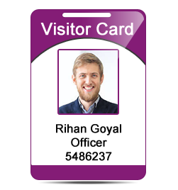 Visitor ID Card Design Software maintain visitor's record