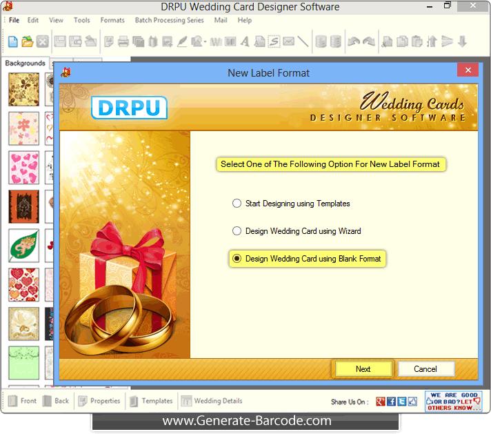 Screenshots Of Wedding Card Designer Software Generate Barcode Com