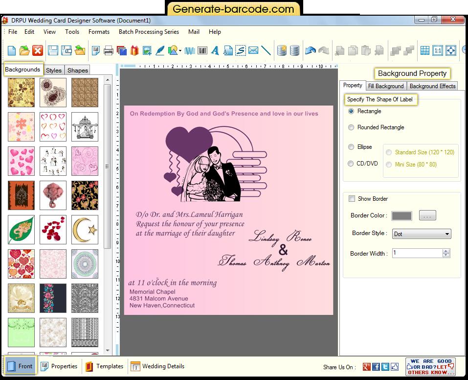 Invitation maker software for Wedding invitation maker program
